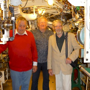 Visit to Submarine Museum, Portsmouth - July 2017 (Robin Young, Paul Naish, Patrick Offord).