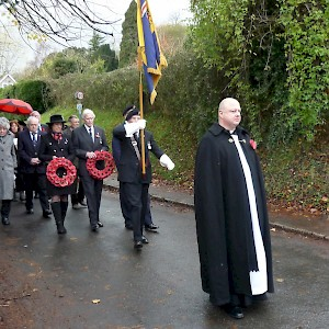 Remembrance Sunday 2017 - Procession from St Mary's to War Memorial.