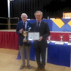 Being awarded The Stilwell Cup - Jan 2018