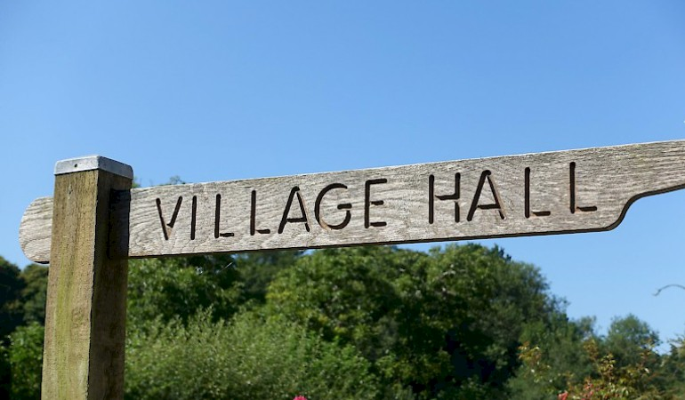 Village Hall Sign Post